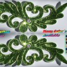 pair appliques sequins applikationen pailletten sew on embroidery handmade ap9