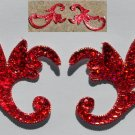pair appliques sequins applikationen pailletten sew on embroidery handmade ap17