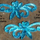 pair appliques sequins applikationen pailletten sew on embroidery handmade ap21