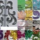 pair appliques sequins applikationen pailletten sew on embroidery handmade ap25