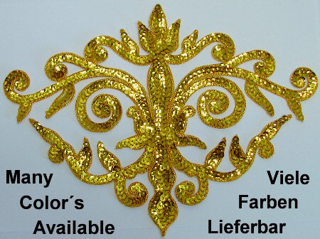 appliques sequins applikationen pailletten sew on embroidery handmade ap26