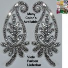 pair appliques sequins applikationen pailletten sew on embroidery handmade ap31