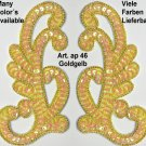 pair appliques sequins applikationen pailletten sew on embroidery handmade ap46