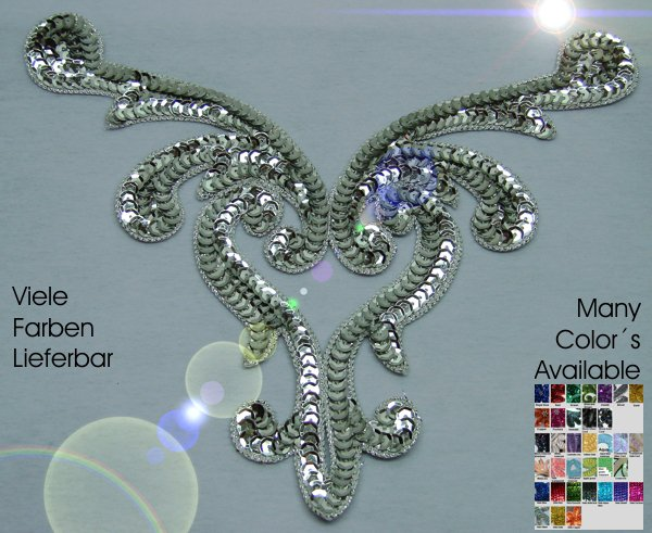 huge appliques sequins applikationen pailletten sew on embroidery handmade ap48
