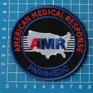 AMR American Medical Response Paramedic black sew on embroidery patch