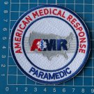 AMR American Medical Response Paramedic white sew on embroidery patch