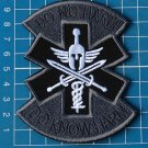 Patch Emergency Medical Technician PARAMEDIC EMT Spartan sew embroidery charcoal