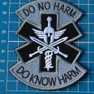 Patch Emergency Medical Technician PARAMEDIC EMT Spartan sew embroidery gray