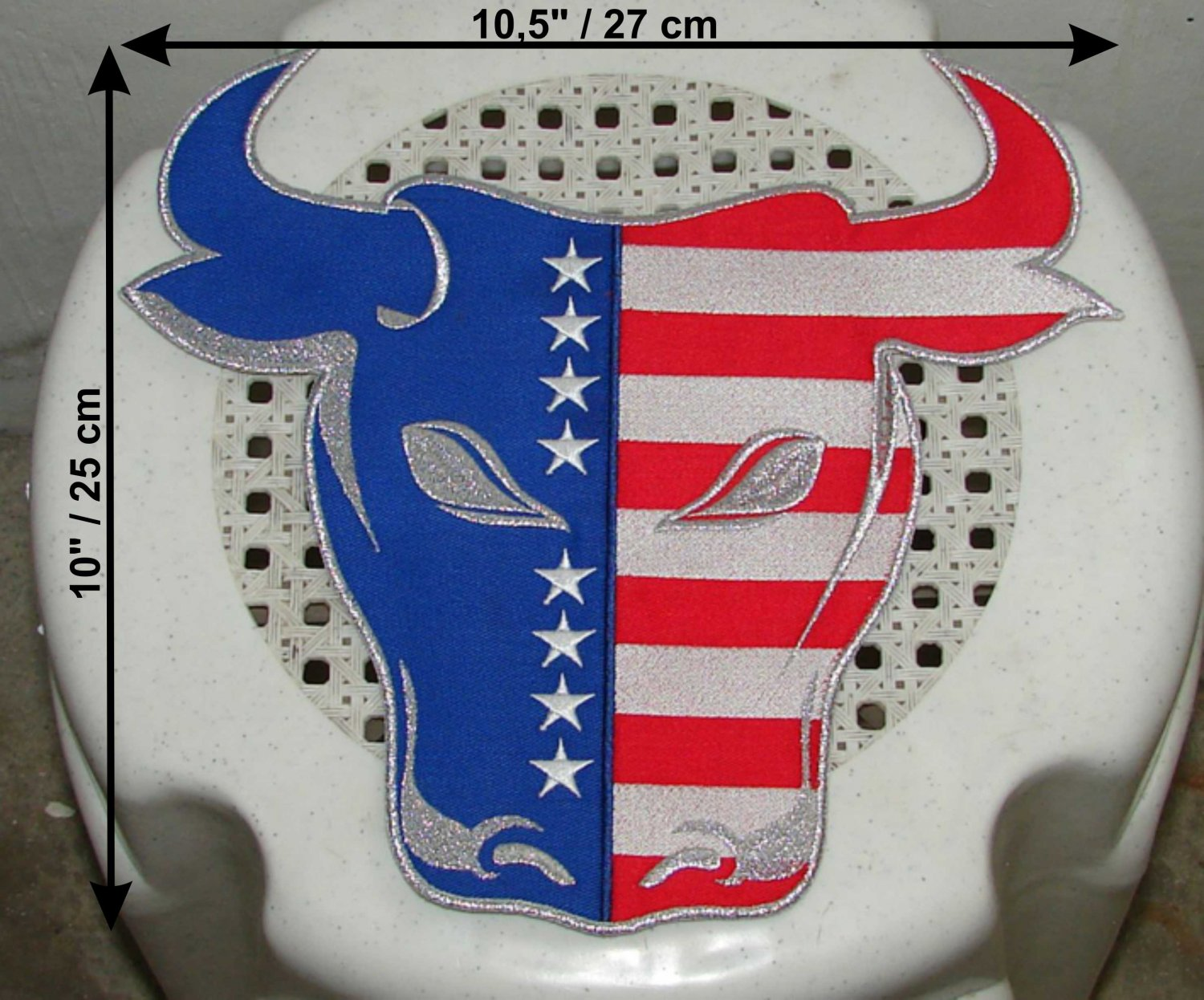 Captain america logo Bull head huge patch embroidery Marvel Comics Red Skull Avengers