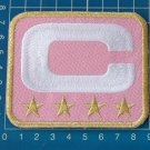 SUPERBOWL NFL TEAM LEADER JERSEY CAPTAINS PINK  PATCH GOLD 4 STAR