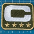 SUPERBOWL NFL  LEADER JERSEY OLIVE GREEN CAPTAINS PATCH 4 STAR GOLD