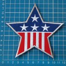 star american flag patch sew on embroidery