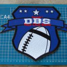 Football Biker Back Patch Sew On Embroidery