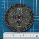 Tactical Medics EMS / TEMS Paramedic Patch logo Sew on Embroidery