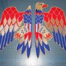 FRONT PATCH Elvis Presley jumpsuit cape american eagle costume embroidery patch