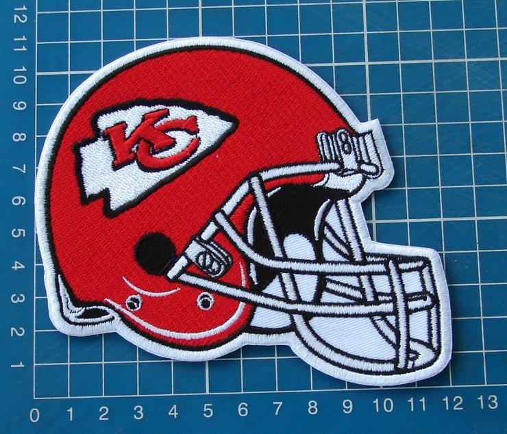 Kansas city Chiefs  NFL  Football Superbowl Jersey HELMET Patch sew  embroidery