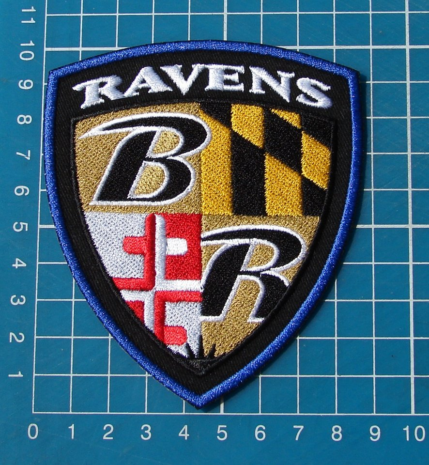 Baltimore Ravens Maryland flag NFL Superbowl XLVII 47 Insignia Jersey Football Patch