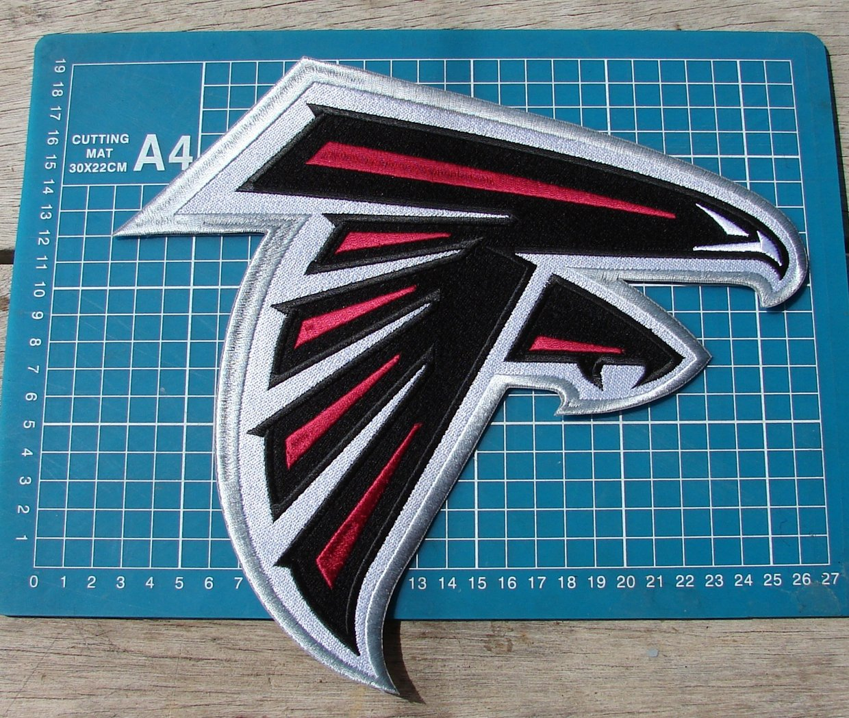 """ATLANTA FALCONS FOOTBALL NFL JERSEY HUGE 10"""" PATCH SEW ON EMBROIDERY"""