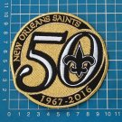 "NEW ORLEANS SAINTS 50th ANNIVERSARY SEASON GOLD PATCH 4"" EMBROIDERY JERSEY"