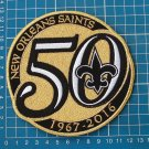 """NEW ORLEANS SAINTS 50th ANNIVERSARY SEASON GOLD PATCH 5"""" HUGE EMBROIDERY JERSEY"""