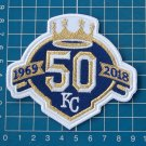 "KANSAS CITY ROYALS 50th ANNIVERSARY MLB WORLD SERIES 4"" JERSEY PATCH EMBROIDERY"
