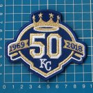 """KANSAS CITY ROYALS 50th ANNIVERSARY MLB WORLD SERIES 4"""" JERSEY PATCH EMBROIDERY"""