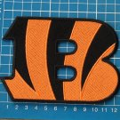 "CINCINNATI BENGALS B NFL FOOTBALL 5"" LOGO PATCH JERSEY EMBROIDERED"