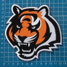"CINCINNATI BENGALS LION NFL FOOTBALL 5"" LOGO PATCH JERSEY EMBROIDERED"