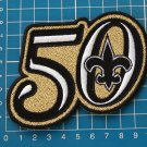 "NEW ORLEANS SAINTS 50th ANNIVERSARY SEASON GOLD PATCH 4"" HUGE EMBROIDERY JERSEY"