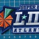 "SUPERBOWL LIII ATLANTA NFL FOOTBALL LOGO PATCH 5"" SEW ON EMBROIDERY"