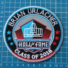 BRIAN URLACHER PRO FOOTBALL HALL OF FAME PATCH NFL HOF CLASS 2018 SUPERBOWL