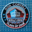DON CORYELL PRO FOOTBALL HALL OF FAME 2018 NFL HOF SUPERBOWL PATCH EMBROIDERED