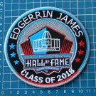 EDGERRIN JAMES SUPERBOWL PRO FOOTBALL HALL OF FAME 2018 HOF NFL PATCH EMBROIDER