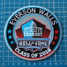 EVERSON WALLS PRO FOOTBALL 2018 HALL OF FAME SUPERBOWL NFL PATCH EMBROIDERED