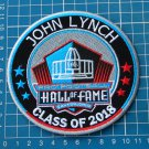 JOHN LYNCH PRO FOOTBALL HALL OF FAME 2018 SUPERBOWL NFL PATCH EMBROIDERED
