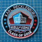 KARL MECKLENBURG SUPERBOWL HALL OF FAME 2018 NFL FOOTBALL PATCH EMBROIDERED
