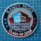RANDY MOSS SUPERBOWL HALL OF FAME 2018 PATCH NFL FOOTBALL MINNESOTA VIKINGS