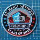 RICHARD SEYMOUR PRO FOOTBALL HALL OF FAME PATCH NFL HOF CLASS 2018 CANTON OHIO S