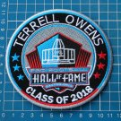 TERRELL OWENS INDUCTION 49ers HALL OF FAME 2018 NFL FOOTBALL SUPERBOWL PATCH