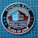 SIMEON RICE HALL OF FAME 2018 NFL SUPERBOWL PATCH FOOTBALL CANTON OHIO EMBROIDER