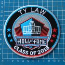 TY LAW FOOTBALL HALL OF FAME PATCH NFL 2018 CANTON OHIO SUPERBOWL