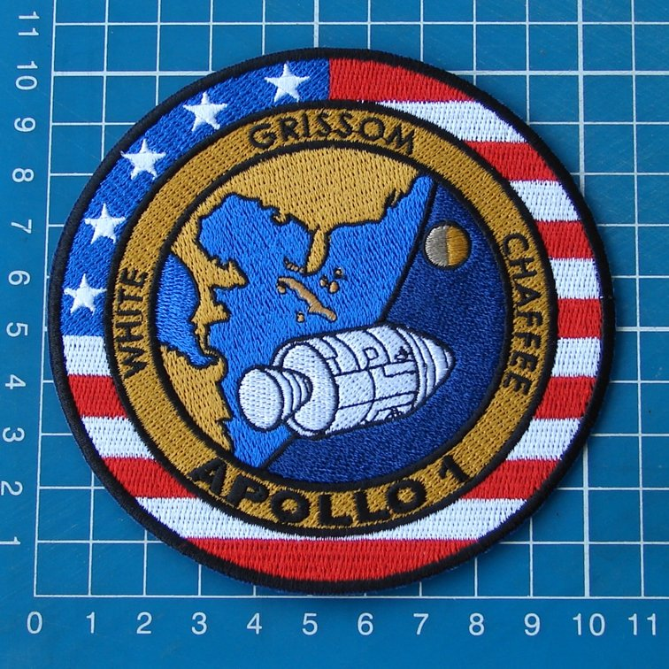 APOLLO 1 MISSION OFFICIAL NASA EDITION WHITE GRISSOM CHAFFEE EMBROIDERED PATCH