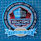 2018 HALL OF FAME INDUCTEED PATCH NFL SUPERBOWL HOF CANTON OHIO EMBROIDERED