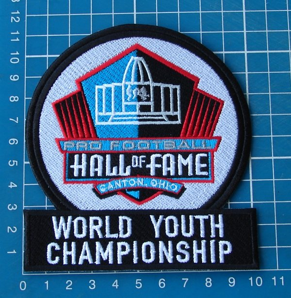 PRO FOOTBALL HALL OF FAME WORLD YOUTH CHAMPIONSHIP CANTON OHIO PATCH EMBROIDERED