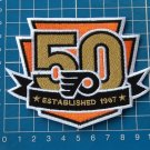 PHILADELPHIA FLYERS HOCKEY NHL TEAM 50th ANNIVERSARY PATCH ESTABLISHED 1967 EMBR