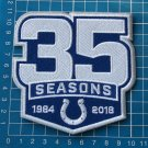INDIANAPOLIS COLTS 35 SEASONS PATCH COMMEMORATIVE PATCH EMBROIDERED NFL FOOTBALL