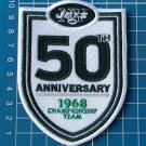 NEW YORK JETS 50 ANNIVERSARY CHAMPIONSHIP TEAM NFL FOOTBALL SUPERBOWL PATCH EMB