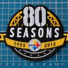 PITTSBURGH STEELERS 80th SEASONS NFL SUPERBOWL FOOTBALL PATCH SEW ON EMBROIDERED