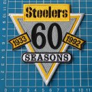 PITTSBURGH STEELERS 60th SEASONS NFL FOOTBALL SUPERBOWL PATCH LOGO EMBROIDERED