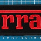 "FERRARI PATCH HUGE EMBROIDERED SPORT 9"" RACING CLASSIC MUSCLE CAR AUTOMOTIVE RED"